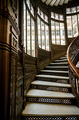 Rookery Building Up The Oriel Staircase Art Print