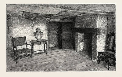 Stratford Drawing - Room In Which Shakespeare Was Born, Stratford-on-avon by English School
