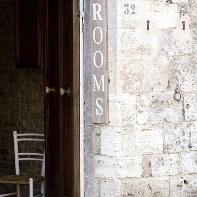 Photograph - Rooms - Tuscany by Lisa Parrish