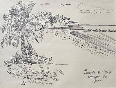 Roosevelt Blvd Beach  Key West Fla Art Print