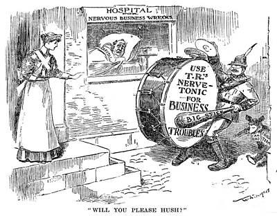 Roosevelt Cartoon, 1908 Art Print by Granger