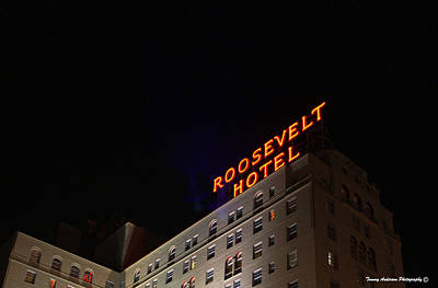 Lapd Photograph - Roosevelt Hotel 2 by Tommy Anderson