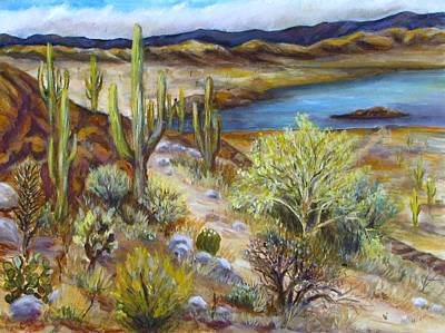 Painting - Roosevelt Lake by Caroline Owen-Doar