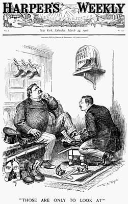 Republican Painting - Roosevelt-taft Cartoon by Granger