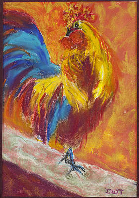 Rooster 2 Original by Diana Tripp