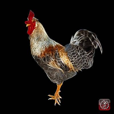 Digital Art - Rooster 3186 F by James Ahn