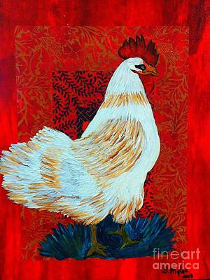 Painting - Rooster Cock Of The Walk by Saundra Myles