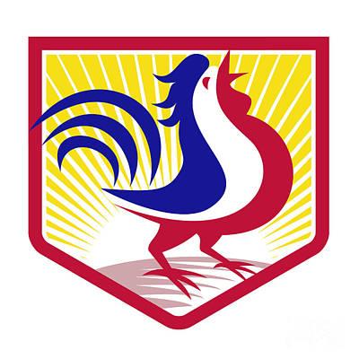 Poultry Digital Art - Rooster Cockerel Crowing Crest by Aloysius Patrimonio