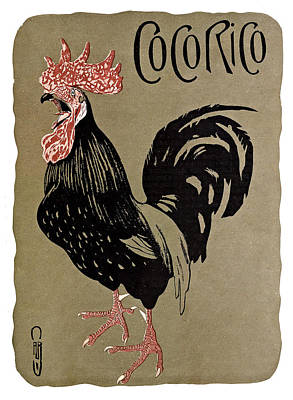 Painting - Rooster Cocorico by Gary Grayson