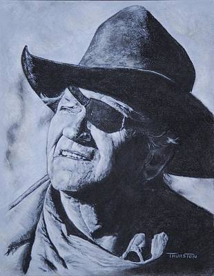 Rooster Cogburn Drawing - Rooster Cogburn by Denise Thurston Newton