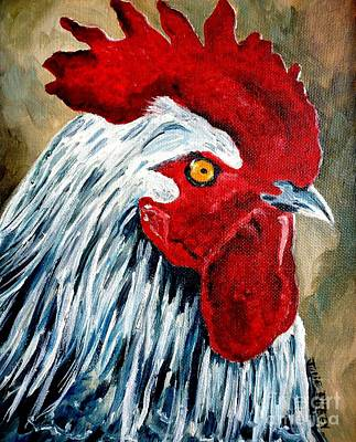 Art Print featuring the painting Rooster Doodle by Julie Brugh Riffey