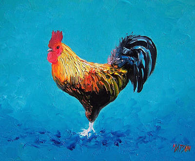 Country Kitchen Decor Painting - Rooster Emanuel by Jan Matson