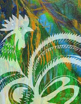 Rooster Feathers Art Print