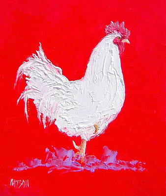 Roosters Painting - Rooster For The Country Kitchen by Jan Matson