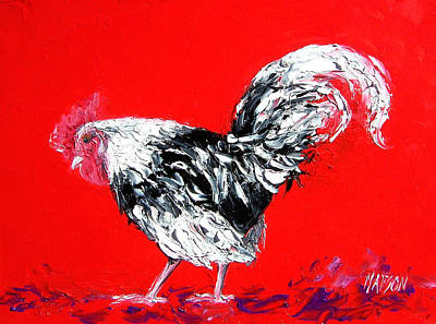 Rooster Painting - Rooster Gabriel by Jan Matson