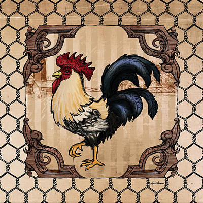 Wire Digital Art - Rooster II by April Moen