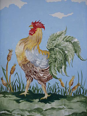 Painting - Rooster by Leslie Manley