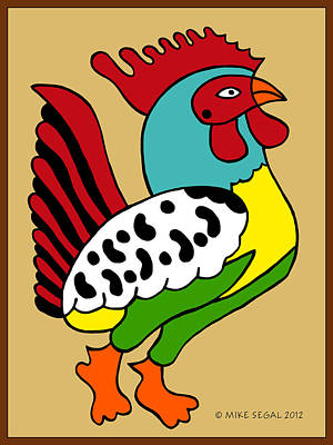 Painting - Rooster by Mike Segal