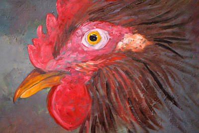 Painting - Rooster by Nancy Merkle