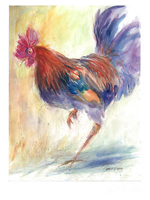 Painting - Rooster On The Run by Christy Lemp