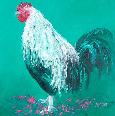 Country Kitchen Decor Painting - Sebastian The Rooster by Jan Matson