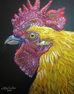 Rooster Profile Art Print