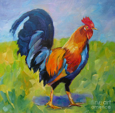 Painting - Rooster Proud by Vicki Brevell