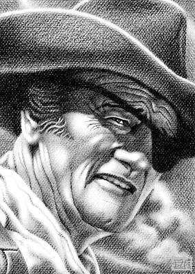 Rooster Cogburn Drawing - Rooster by Stephen Daniels