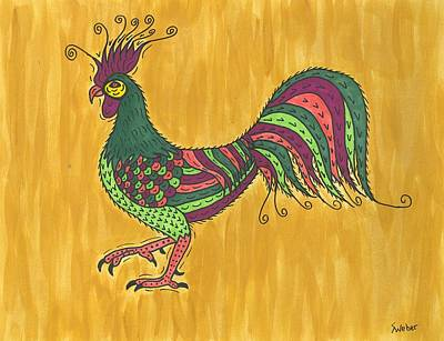 Art Print featuring the painting Rooster Strut by Susie Weber