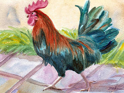 Painting - Rooster by Janet  Zeh