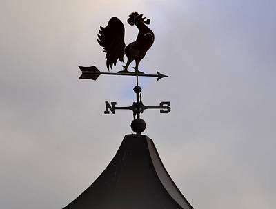 Rooster Weather Vane Art Print by Bill Cannon