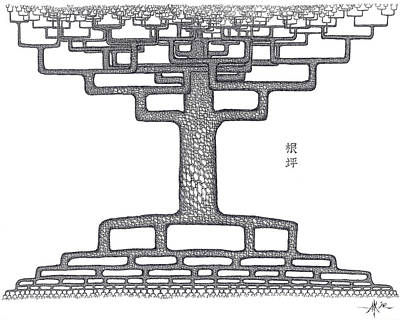 3.14 Drawing - Root Squared by Robert Fenwick May Jr