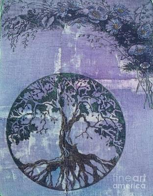 Iridescent Mixed Media - Rooted by Leslie Jennings