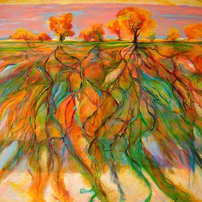 Painting - Roots by Mary Schiros