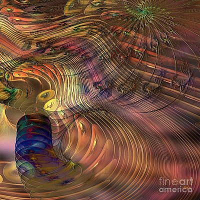 Digital Art - Roots Of Light - Square Version by John Beck