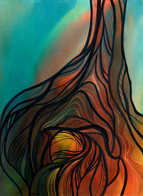 Roots Of Tree By Clark Lake Art Print