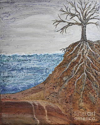 Tree Roots Painting - Roots by Sari Sauls