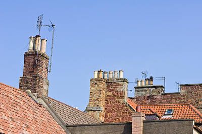 Rooves And Chimneys Art Print by Tom Gowanlock