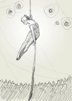 Theatre Digital Art - Rope Act by H James Hoff
