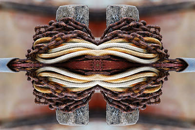 Digital Art - Rope And Chain 2 by Wendy Wilton