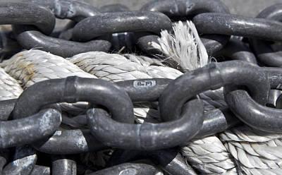 Rope And Chain Art Print