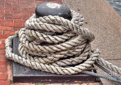 Rope Coil 1 Art Print by Deborah Smolinske