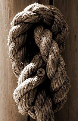 Photograph - Rope Knot 1 by Tamyra Crossley