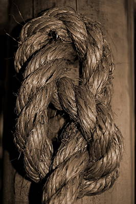 Photograph - Rope Knot 2 by Tamyra Crossley