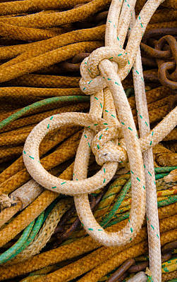 Photograph - Rope Knots by James Hammond