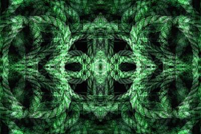 Digital Art - Rope Mantra 10 by Lynda Lehmann
