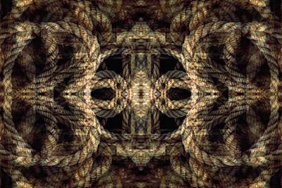 Digital Art - Rope Mantra 12 by Lynda Lehmann