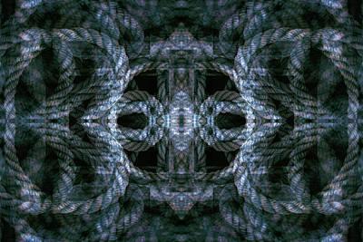Digital Art - Rope Mantra 17 by Lynda Lehmann