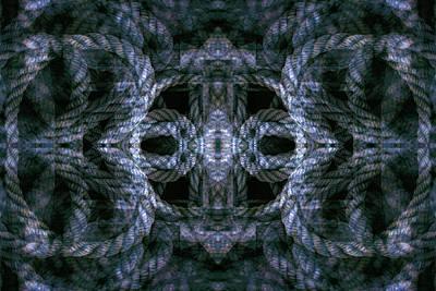 Digital Art - Rope Mantra 21 by Lynda Lehmann