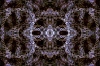 Digital Art - Rope Mantra 23 by Lynda Lehmann